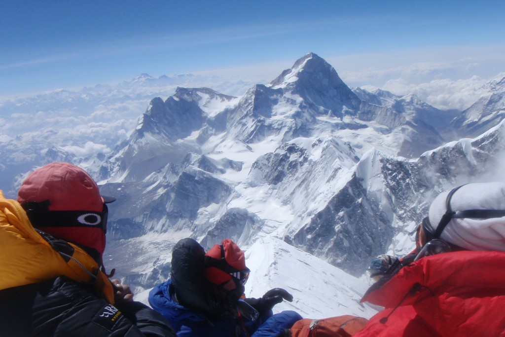 View from the top of Everest on 25th May 2012 looking towards Makalu.